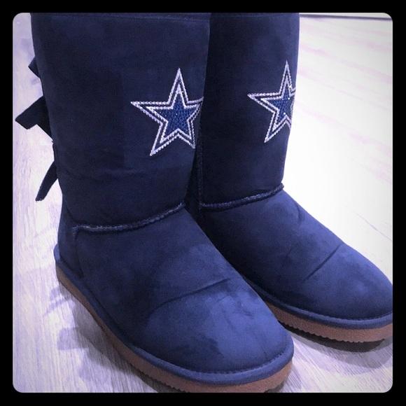 68d6992322da Shoes | Womens Cuce Navy Dallas Cowboys Patron Bow Boots | Poshmark